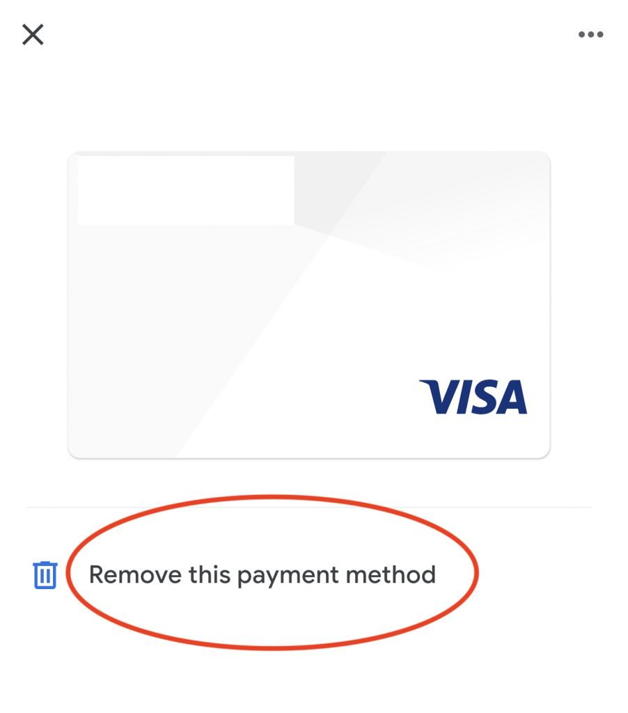 Google Pay Remove Card1