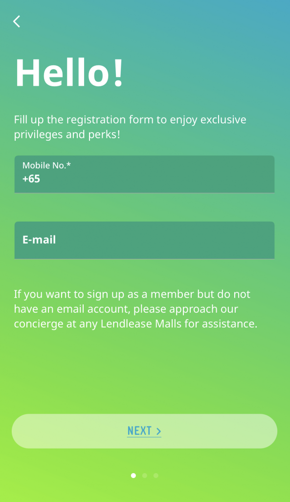 Lendlease Plus Signup 1