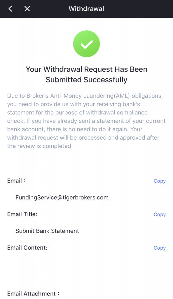 Tiger Broker Withdraw Funds 4