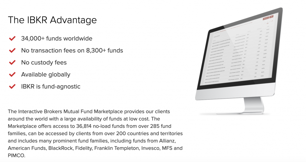 Interactive Brokers Mutual Fund Marketplace