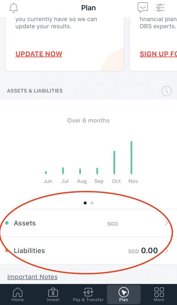 SGFinDex DBS NAV Planner Assets And Liabilities