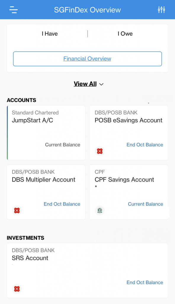 SGFinDex Standard Chartered Interface