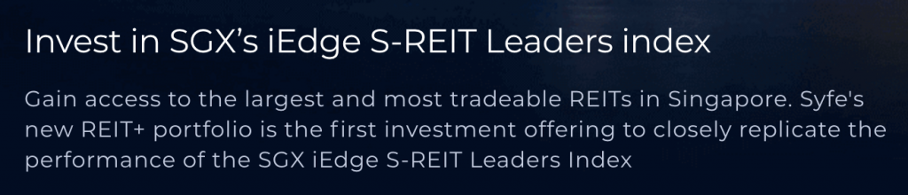 Syfe REIT iEdge Leaders Index