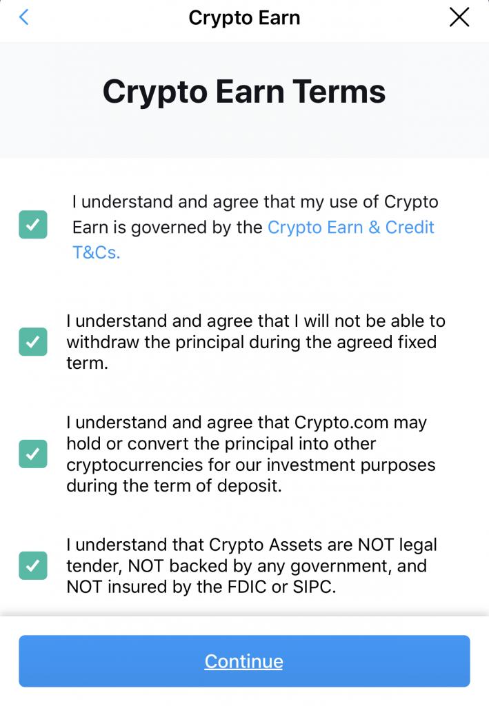 Crypto Earn Terms
