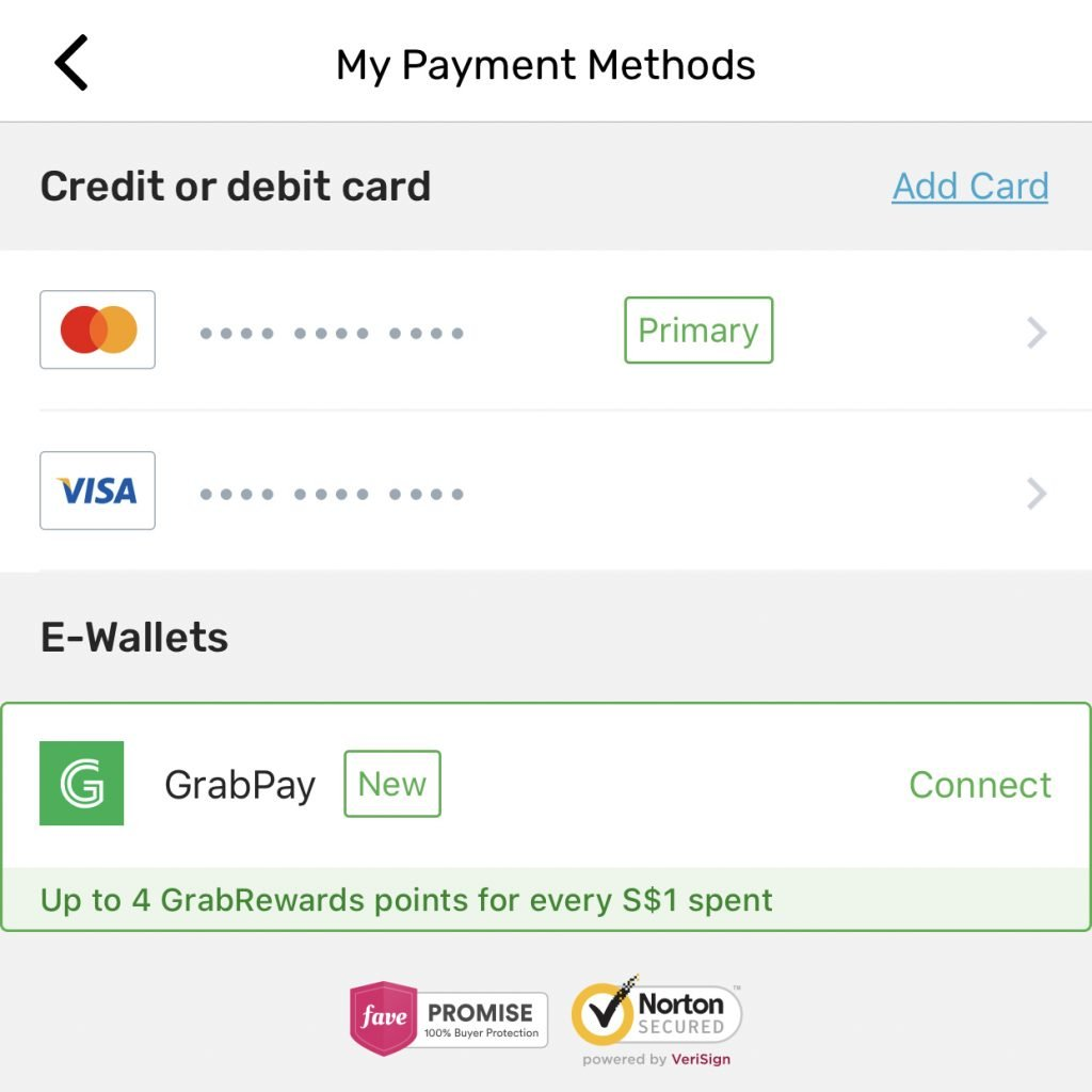 Fave Payment Methods