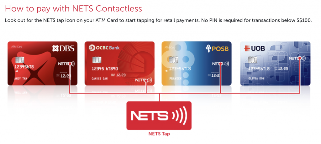 NETS Tap Contactless ATM Card