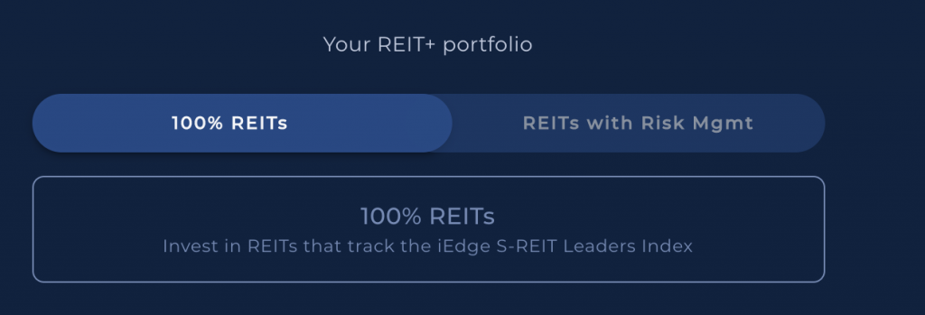Syfe REIT Portfolio 2 Options