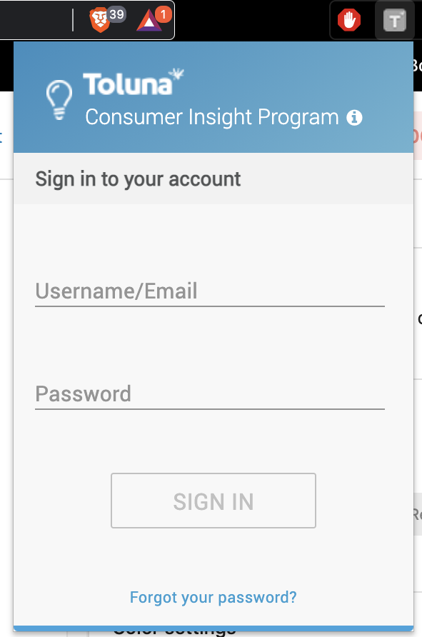 Toluna Consumer Insights Programme Sign In To Browser