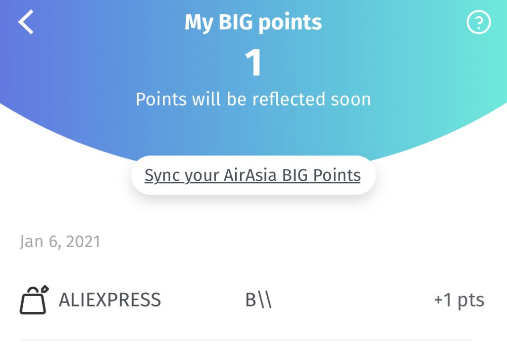 BigPay Points Credit