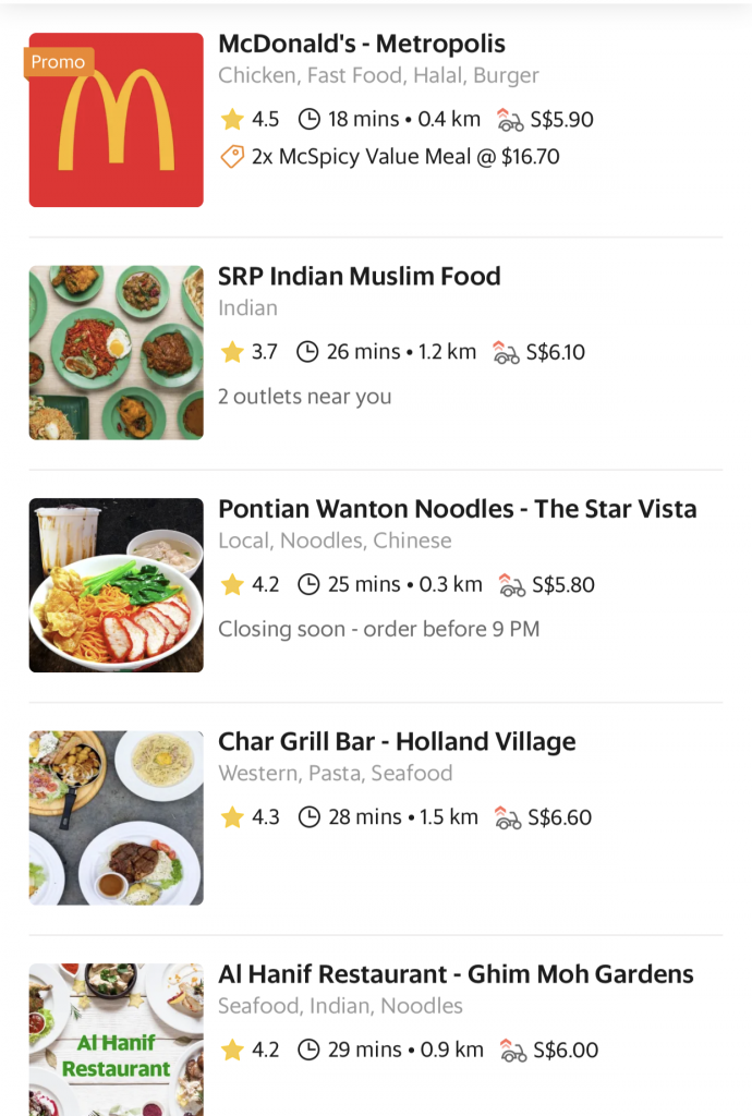GrabFood Surge Delivery Fee