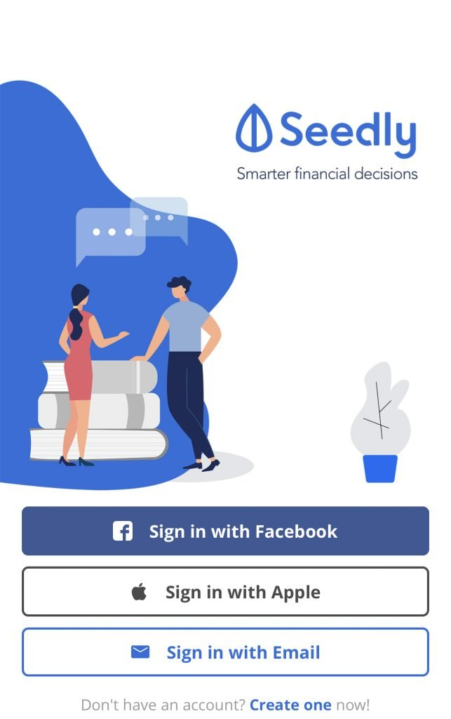 Seedly App Login Page