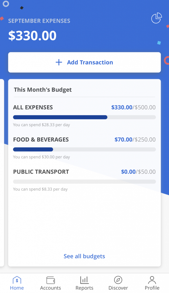 Seedly App View Budgets