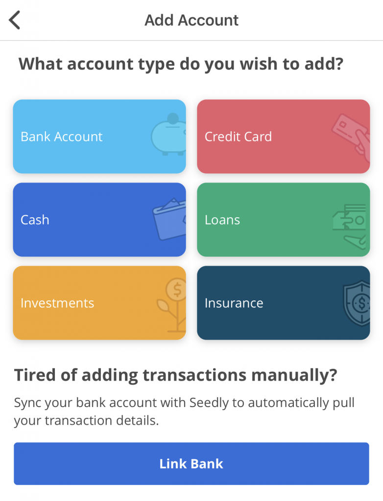 Seedly Multiple Wallet Types
