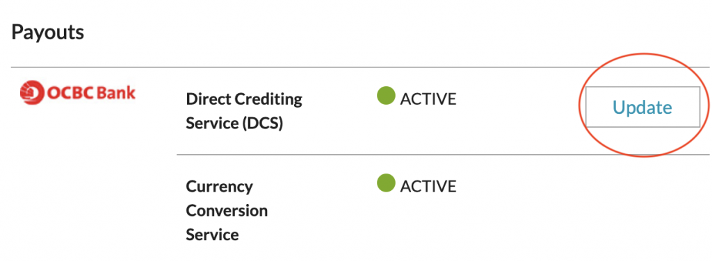 CDP Account Settings Payout