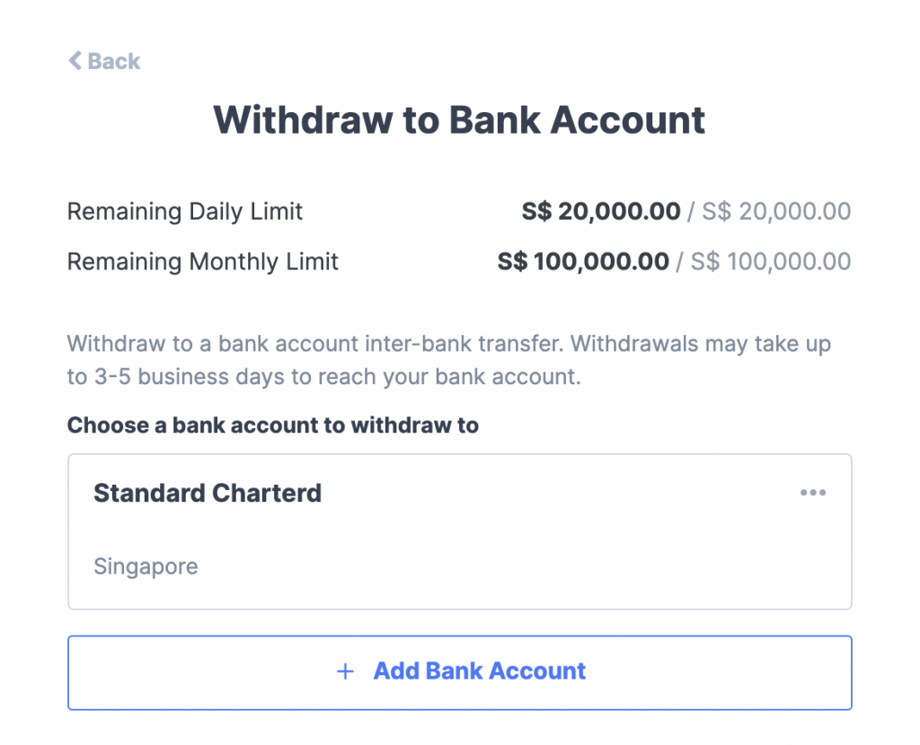 Coinhako Withdraw To Bank Account