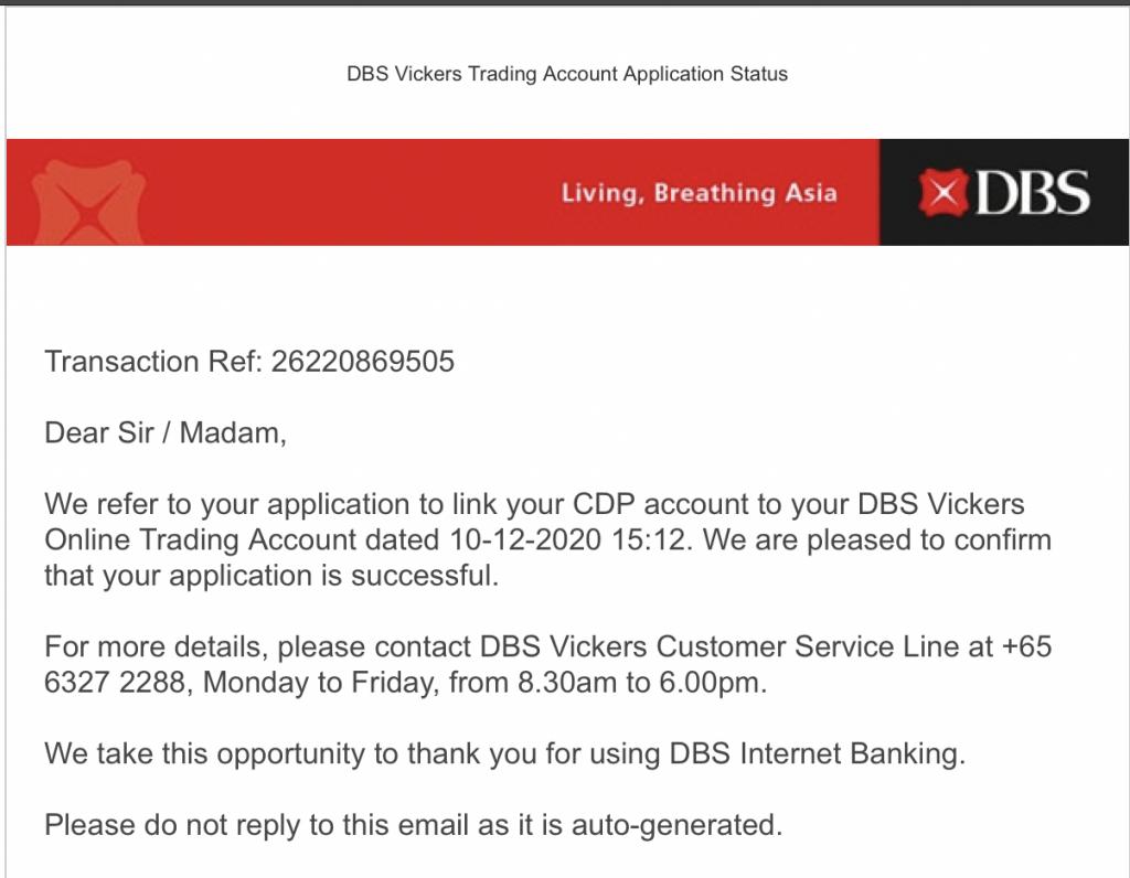 DBS Vickers Link CDP