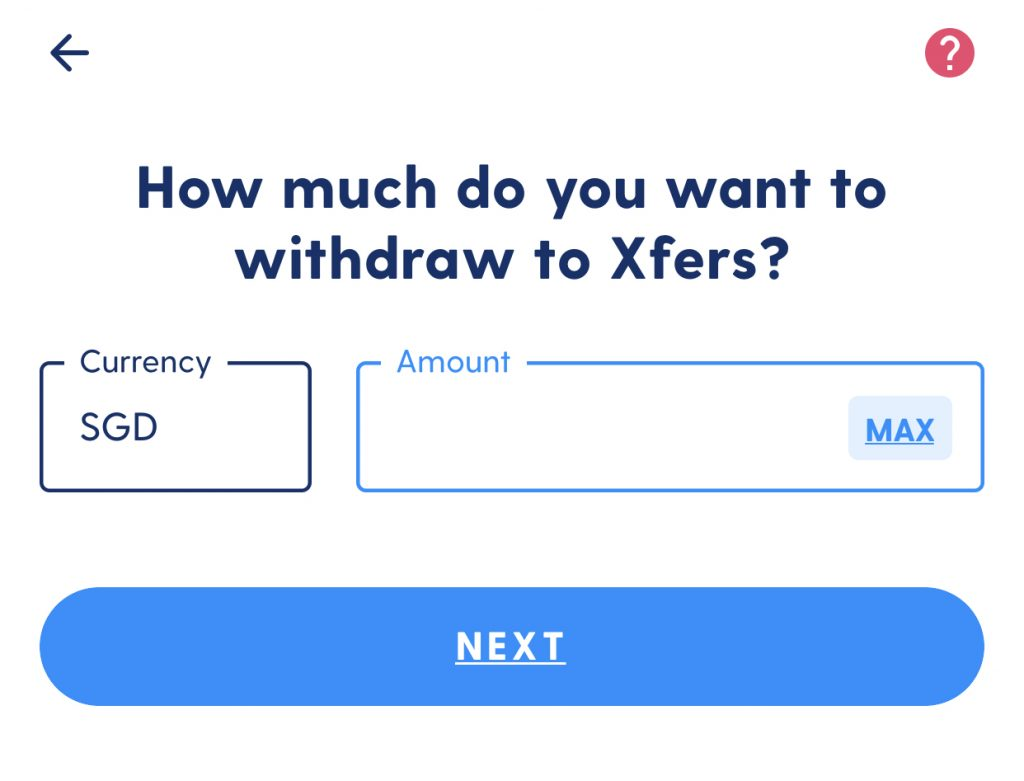 Luno Withdraw to Xfers
