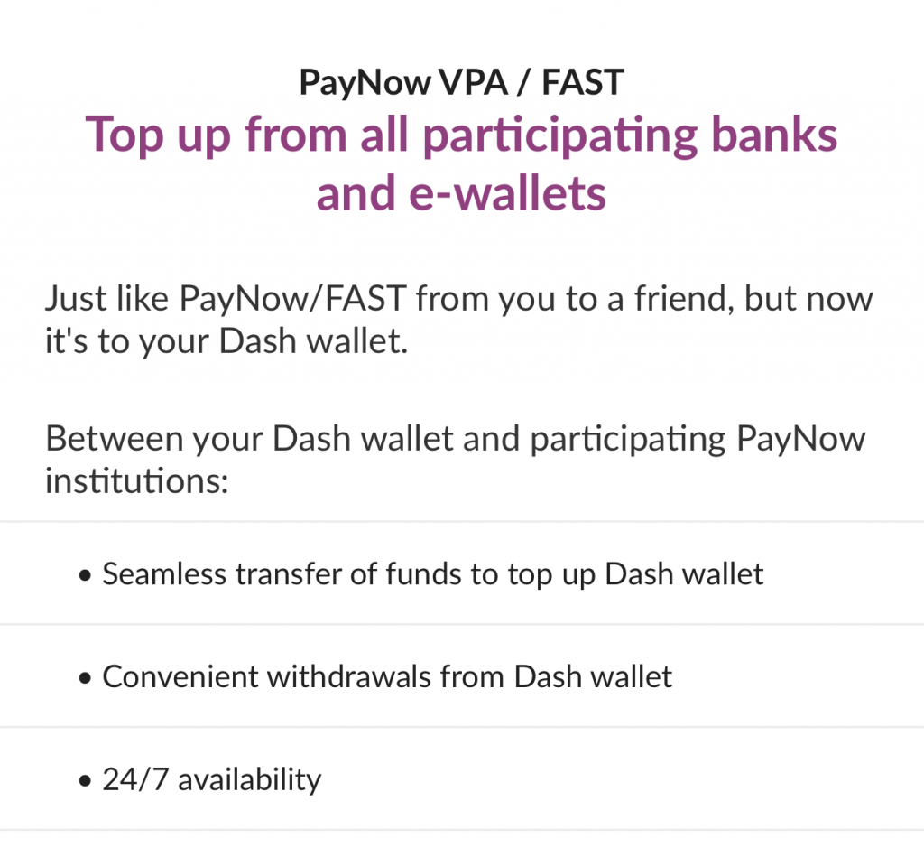 Singtel Dash Enable PayNow VPA And Fast