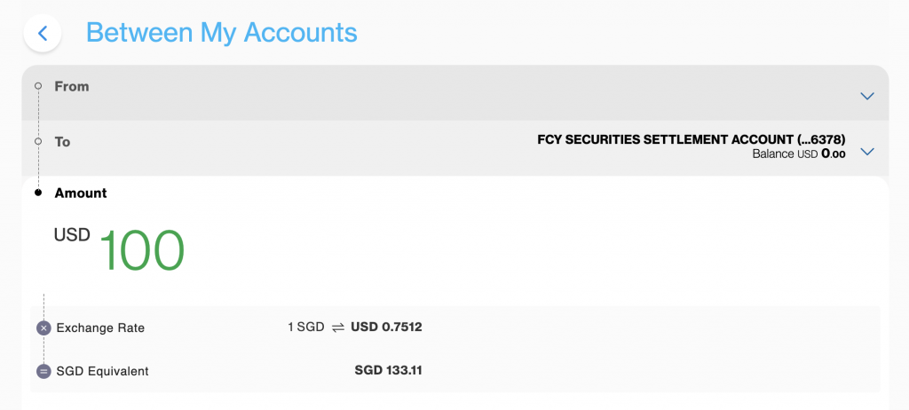 Standard Chartered Securities Settlement Account Transfer Currency
