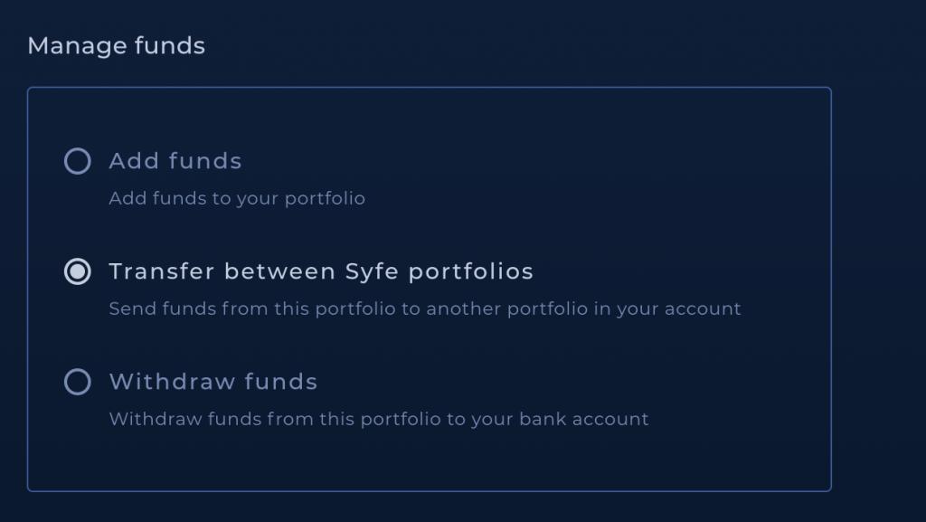 Syfe Cash Transfer To Other Portfolio 1