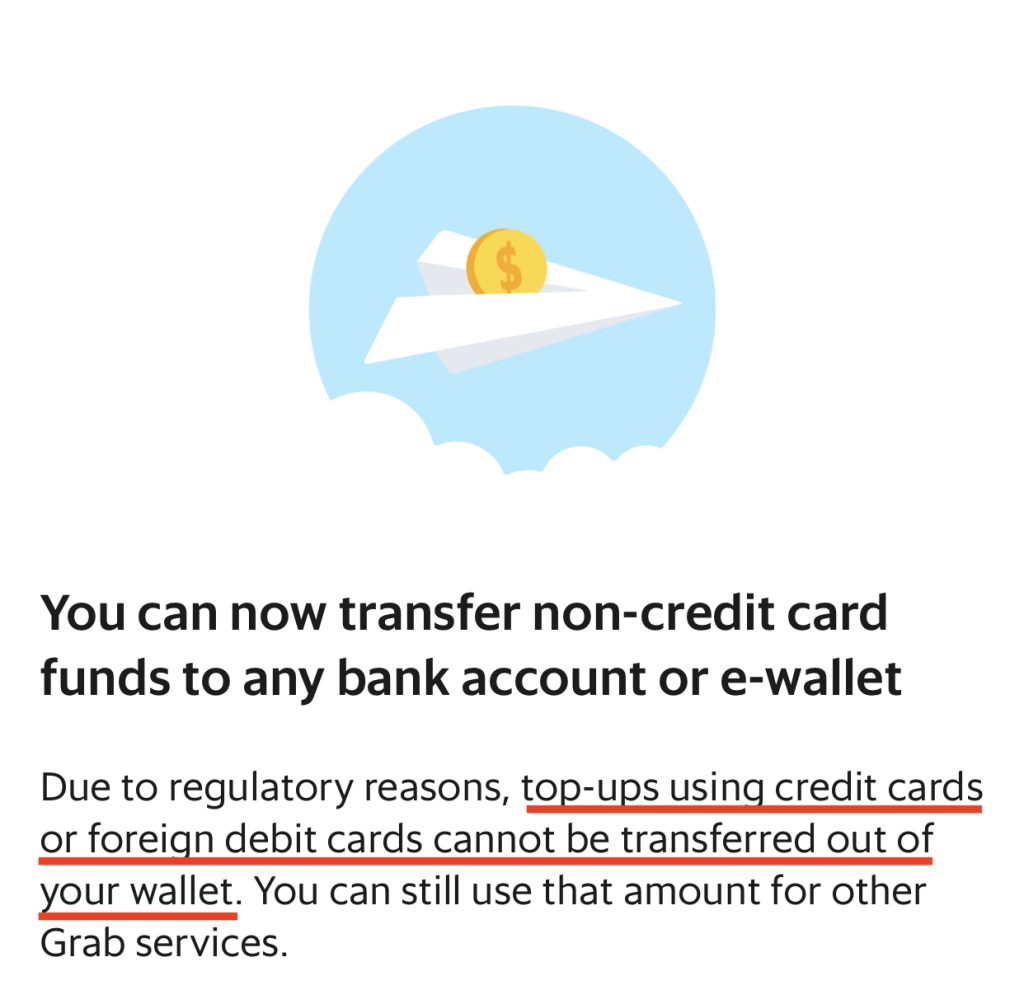 Withdraw Money From GrabPay Only Local Debit Card