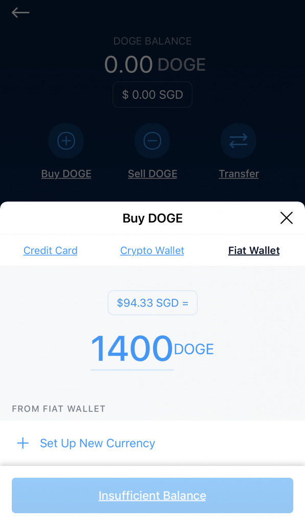 Crypto.com Buy DOGE From Fiat Wallet