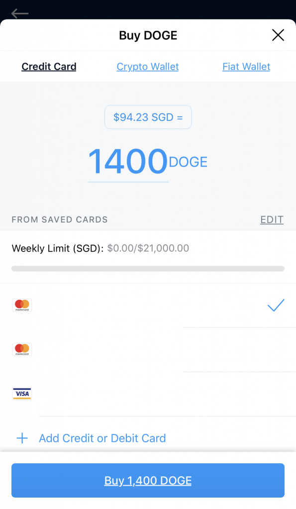Crypto.com Credit Card Payment