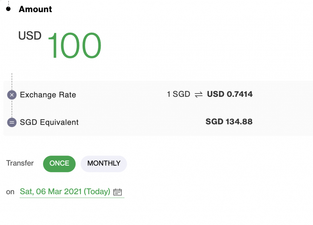 Standard Chartered SGD to USD Rate