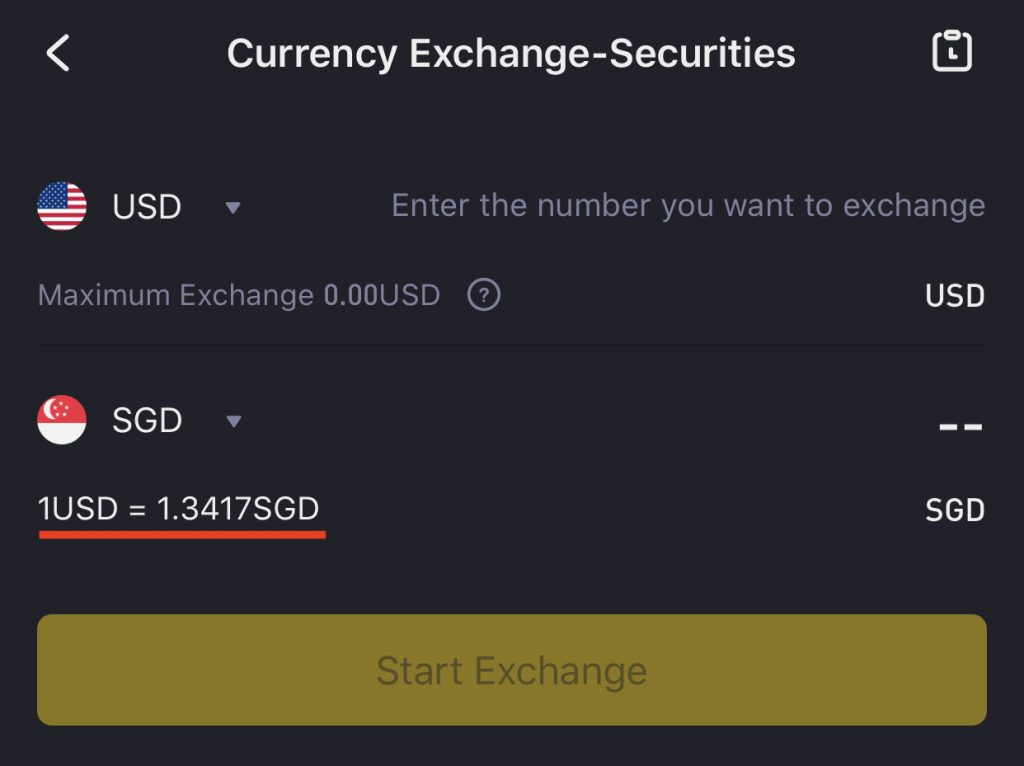 Tiger Brokers USD to SGD Conversion Against XE