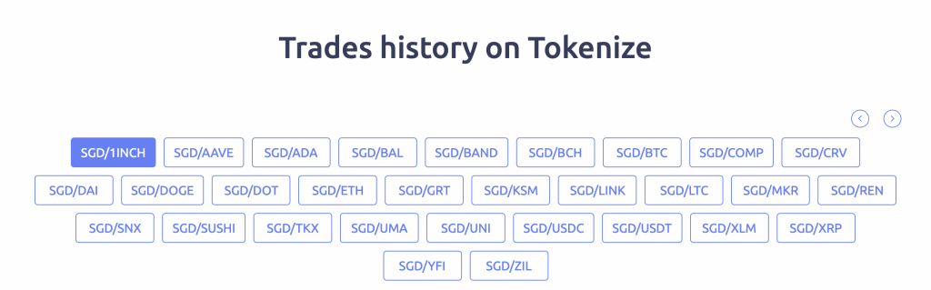 Tokenize Number Of Cryptocurrencies From SGD