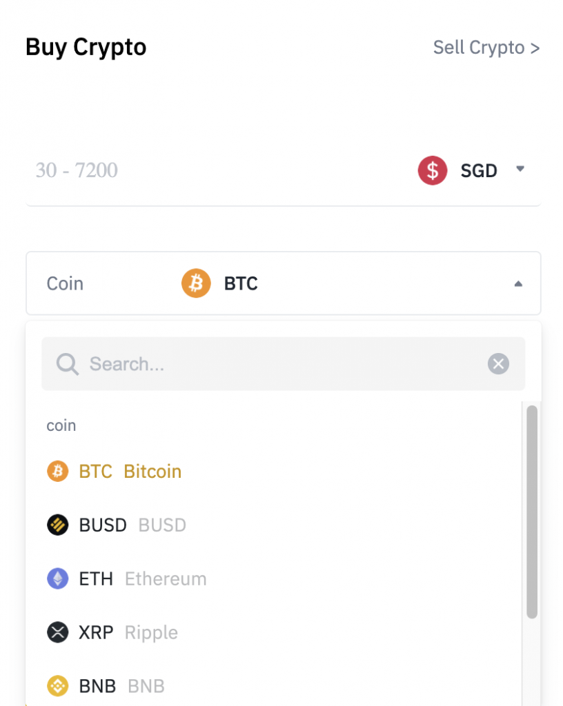 Binance Buy Crypto From SGD Credit Card