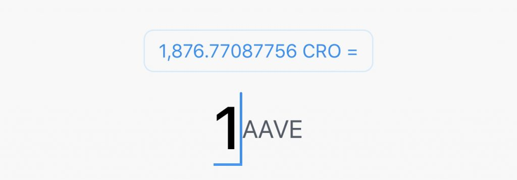 Crypto.com App Buy AAVE From CRO