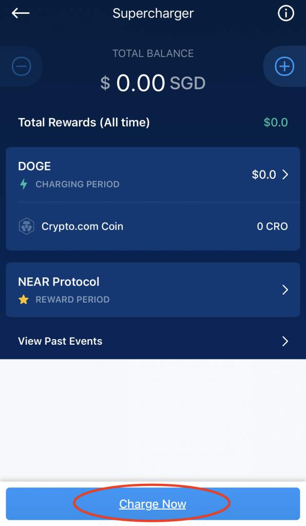 Crypto.com Supercharger Select Charge Now