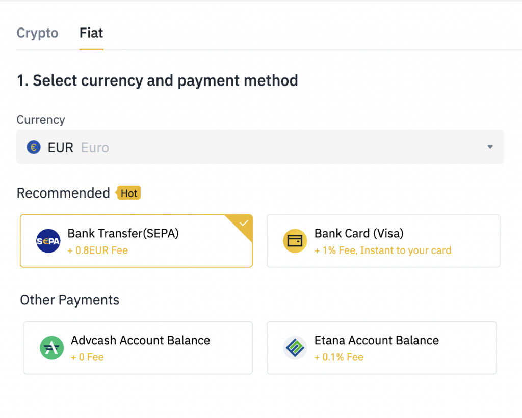 Binance Withdraw Fiat Select Currency And Network