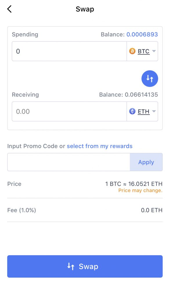 Coinhako Swap Currency 1