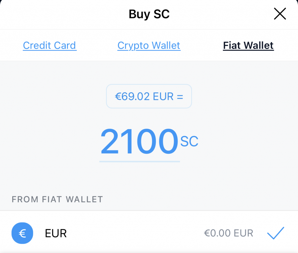 Crypto.com App Buy Siacoin Fiat Wallet