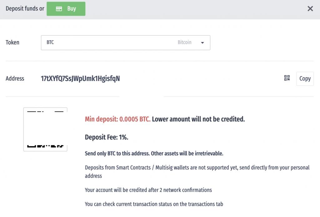 LATOKEN Deposit BTC