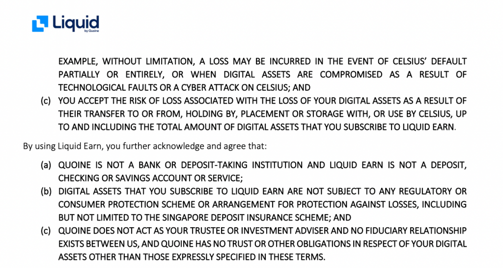 Liquid Earn Terms Of Service