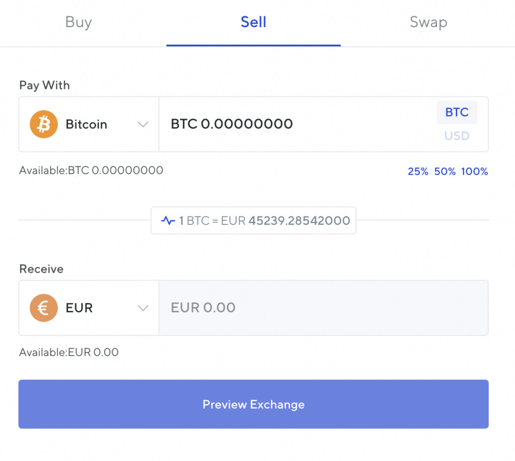 Nexo Convert Crypto To Fiat Exchange