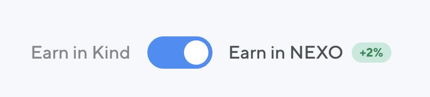 Nexo Earn In NEXO Token Additional Interest