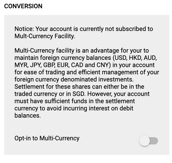 POEMS Multi Currency Facility Opt In