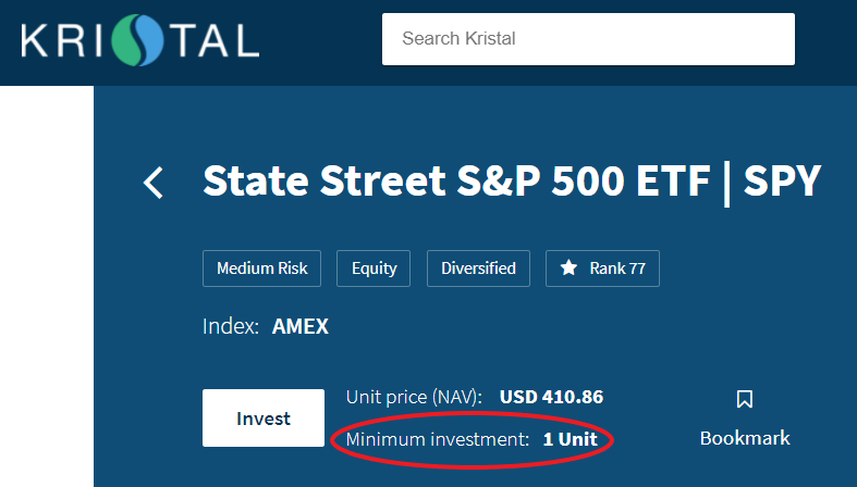 SP 500 ETF 24 May 2021
