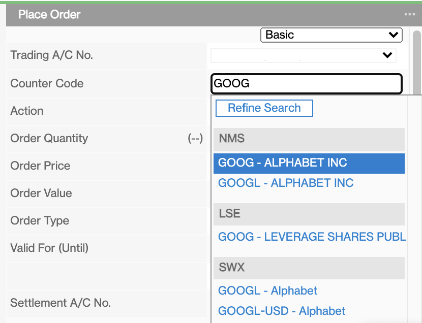 Standard Chartered Search For Google Stock