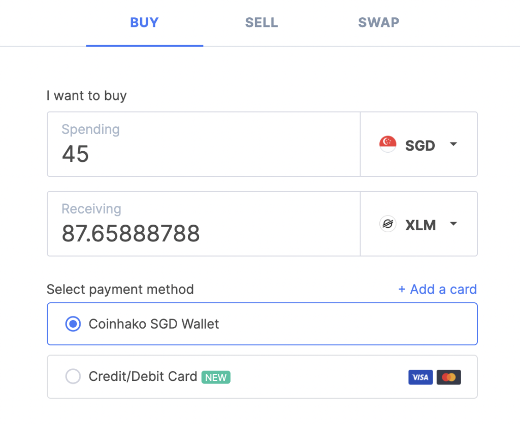 Coinhako Buy XLM Page 2