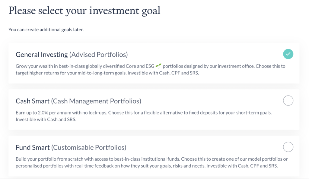 Endowus Select Investment Goal