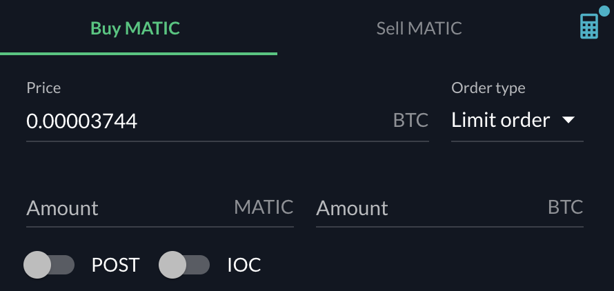 FTX Buy MATIC From BTC