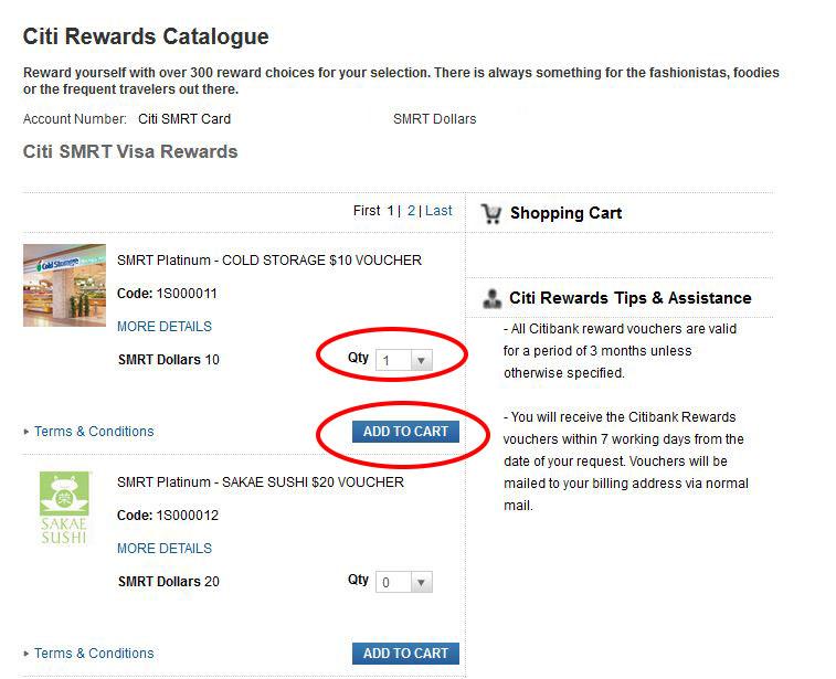 citi web rewards qty and add cart
