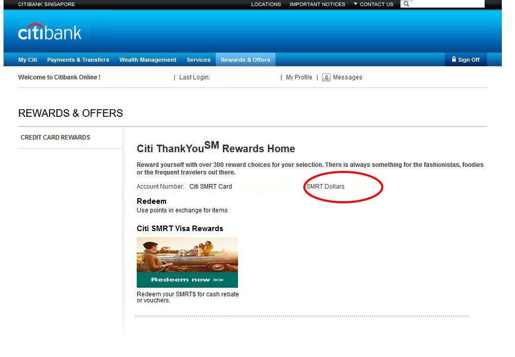 citi web rewards view