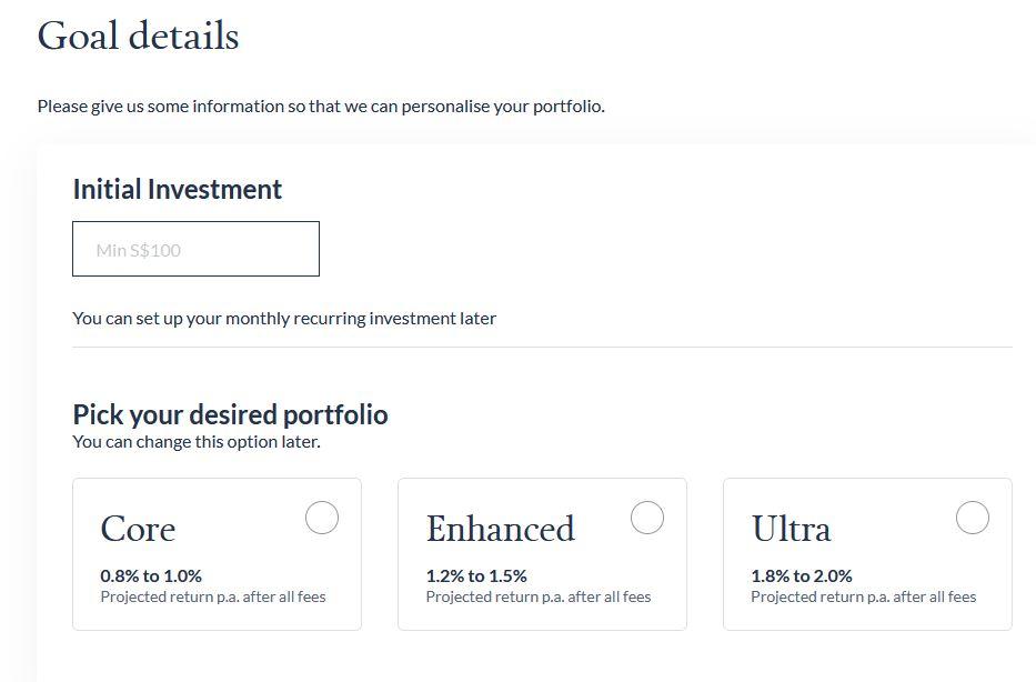 endowus cash smart goal select