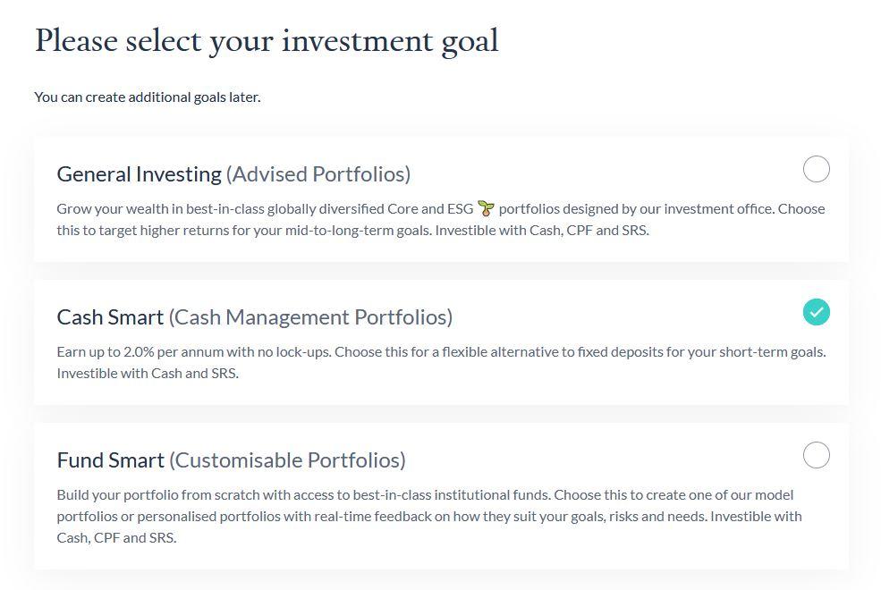 endowus cash smart select